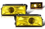 1996 BMW E36 3 Series Yellow Projector Fog Lights