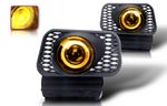 2005 Chevy Avalanche Yellow Halo Projector Fog Lights