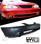 1994 Ford Mustang Cobra Style Front Bumper Cover with Smoked Fog Lights