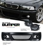 2006 BMW E46 Coupe 3 Series M3 Style Front Bumper with Fog Lights