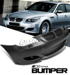 2009 BMW E60 5 Series M5 Style Front Bumper with Black Grille