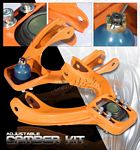 1993 Honda Civic Orange Front Camber Kit