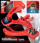 1993 Honda Civic Red Front Camber Kit