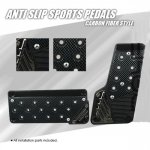Sports AT 2 Pieces Carbon Fiber Style Racing Pedals