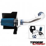2007 Chevy Silverado Aluminum Cold Air Intake System with Blue Air Filter
