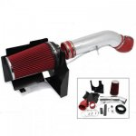 GMC Sierra 1500HD V8 2001-2006 Cold Air Intake with Red Air Filter