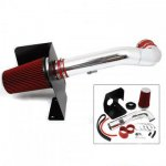 2009 Cadillac Escalade Aluminum Cold Air Intake System with Red Air Filter
