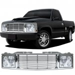 Chevy 3500 Pickup 1994-2000 Chrome Billet Grille and Headlight Conversion Kit