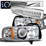 1998 Dodge Ram Chrome Vertical Grille and Projector Headlights