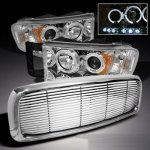 Dodge Ram 2500 2003-2005 Chrome Billet Grille and Projector Headlights