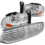 1999 Dodge Durango Chrome Grille and Headlights LED DRL