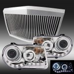 Chrysler 300C 2005-2010 Chrome Phantom Grille and Halo Projector Headlights