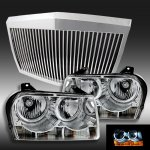 2008 Chrysler 300 Chrome Phantom Grille and Halo Headlights