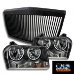 2008 Chrysler 300 Black Phantom Grille and Halo Headlights