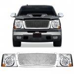 2004 Chevy Silverado Chrome Mesh Grille and Headlight Conversion Kit