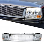 Chevy Suburban 2000-2006 Chrome Billet Grille and Headlight Conversion Kit