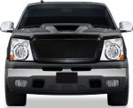 Chevy Avalanche 2003-2006 Black Mesh Grille and Chrome Headlight Conversion Kit