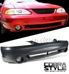 1994 Ford Mustang Cobra Style Front Bumper Cover with Fog Lights