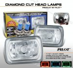 1997 Chevy 1500 Pickup 7 Inch Color Ring Sealed Beam Headlight Conversion