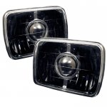 1982 Toyota Pickup Black Sealed Beam Projector Headlight Conversion