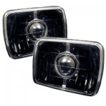1987 Chevy C10 Pickup Black Sealed Beam Projector Headlight Conversion