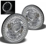 1976 Chevy C10 Pickup White LED Sealed Beam Projector Headlight Conversion