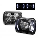 1993 Jeep Wrangler LED Black Sealed Beam Projector Headlight Conversion