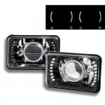 1997 Chevy Blazer LED Black Sealed Beam Projector Headlight Conversion