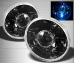 1976 Chevy C10 Pickup Black 7 Inch Sealed Beam Projector Headlight Conversion