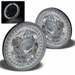 1973 Ford Bronco White LED Sealed Beam Projector Headlight Conversion