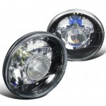1974 Ford Bronco Black Crystal Sealed Beam Projector Headlight Conversion