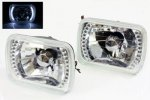 1993 GMC Sierra White LED Sealed Beam Headlight Conversion