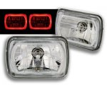 1997 Chevy 1500 Pickup 7 Inch Red Ring Sealed Beam Headlight Conversion