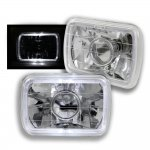 1991 Nissan 240SX White Halo Sealed Beam Projector Headlight Conversion