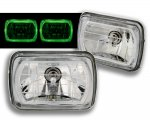 1988 Jeep Wrangler 7 Inch Green Ring Sealed Beam Headlight Conversion