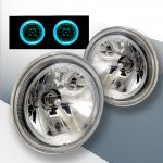 VW Cabriolet 1985-1993 Sealed Beam Headlight Conversion Blue Halo