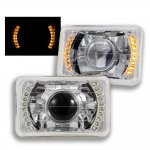 1997 Chevy Blazer Amber LED Sealed Beam Projector Headlight Conversion