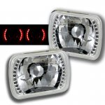 1991 Nissan 240SX Red LED Sealed Beam Headlight Conversion