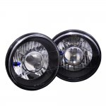 1974 Ford Bronco Black Chrome Sealed Beam Projector Headlight Conversion