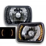 1988 Jeep Wrangler Amber LED Black Sealed Beam Headlight Conversion