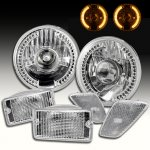 2004 Jeep Wrangler Projector Headlights Amber LED and Clear Bumper Lights Side Marker