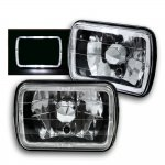 1988 Jeep Wrangler Black 7 Inch Halo Sealed Beam Headlight Conversion