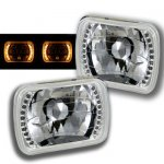 1993 GMC Sierra Amber LED Sealed Beam Headlight Conversion