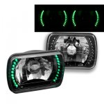 1983 Chevy Cavalier Green LED Black Chrome Sealed Beam Headlight Conversion