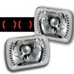 2002 Ford F250 Red LED Sealed Beam Headlight Conversion