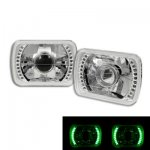 1993 GMC Sierra Green LED Sealed Beam Projector Headlight Conversion