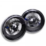 VW Cabriolet 1985-1993 Black Chrome Sealed Beam Headlight Conversion