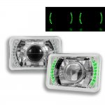 1984 Buick Regal Green LED Sealed Beam Projector Headlight Conversion