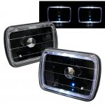 1990 GMC Sierra Black Halo Sealed Beam Headlight Conversion