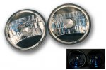1976 Chevy Suburban Black Crystal 7 Inch Sealed Beam Headlight Conversion